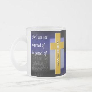 Romans 1:16a Bible Verse Glass Mug