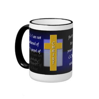 Romans 1:16a Bible Verse Men's Coffee Mug