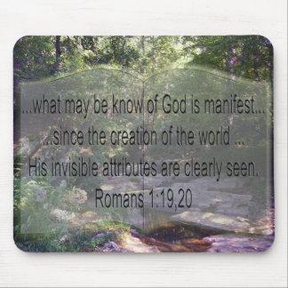Romans 1:19-20 mouse pad