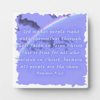 Romans 3:22 photo plaques
