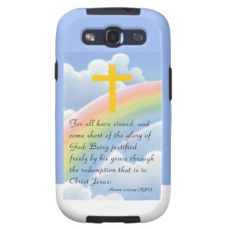 Romans 3:23-24 (KJV) Samsung Galaxy S3 Covers