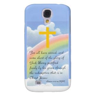 Romans 3:23-24 (KJV) Samsung Galaxy S4 Cover