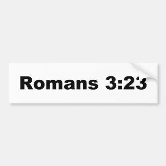 Romans 3:23 bumper sticker