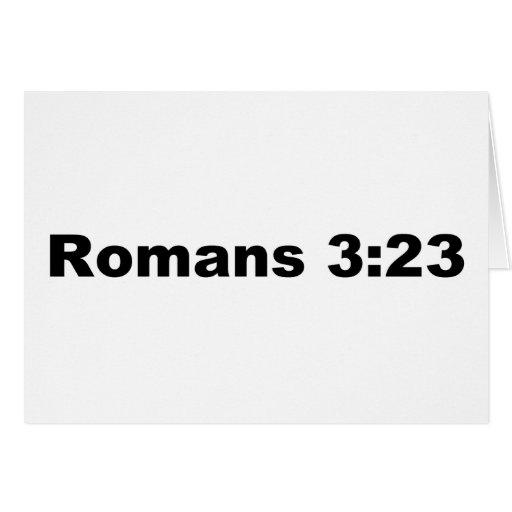 Romans 323 Greeting Card
