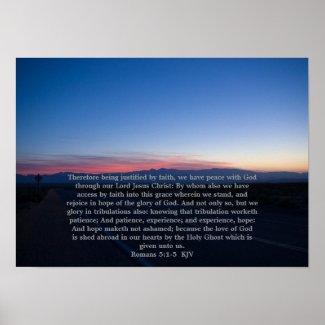 Romans 5:1-5 poster print