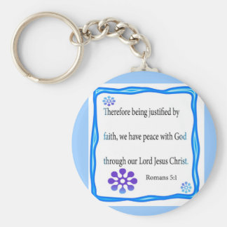 Romans 5:1  key chain