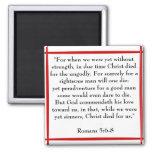 Romans 5:6-8 scripture magnet