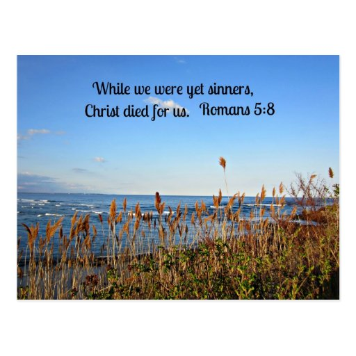 Romans 5:8 postcard
