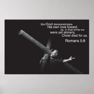 Romans 5:8 poster