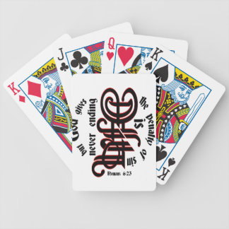 Romans 6:23 ambigram bicycle card decks