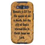 Romans 6:23: Rusty Metal Samsung Galaxy Case Samsung Galaxy S3 Cover