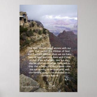 Romans 8:16-18 Poster print