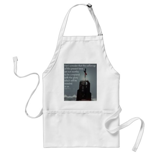 Romans 8:18 Glory to be Revealed Adult Apron
