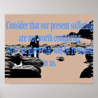 Romans 8:18 poster