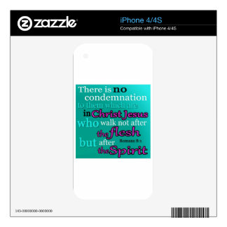Romans 8:1 decals for iPhone 4S