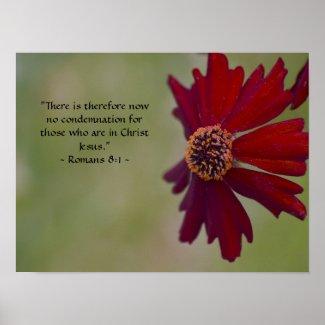 Romans 8:1 Poster print