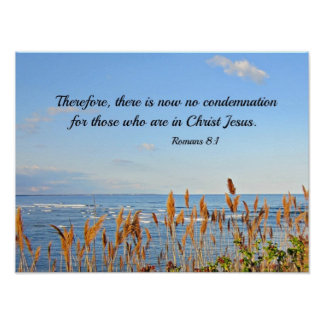 Romans 8:1 Therefore, there is now no condemnation Poster