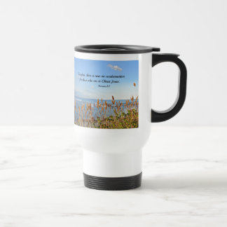 Romans 8:1 Therefore, there is now no condemnation Travel Mug