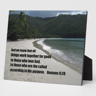 Romans 8:28 All things work together for good... Plaque