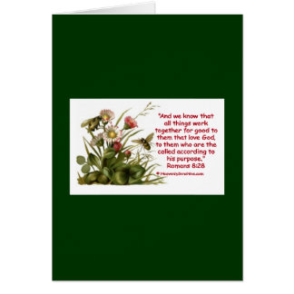 Romans 8:28 Bee Motif Greeting Card