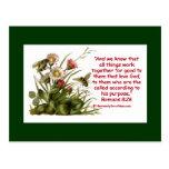 Romans 8:28 Bee Motif Postcards