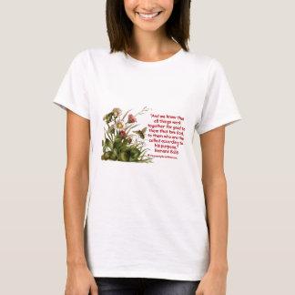 Romans 8:28 Bee Motif T-Shirt