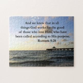 ROMANS 8:28 BIBLE JIGSAW PUZZLES