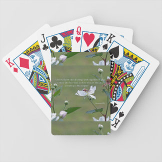 Romans 8:28 bicycle playing cards