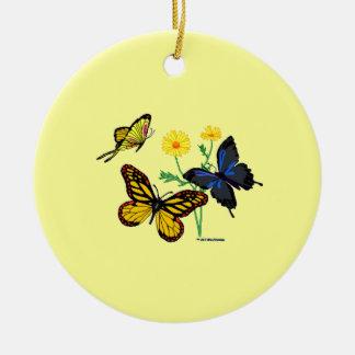 Romans 8:28 Butterflies Ceramic Ornament