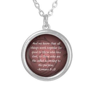 Romans 8:28 Christian Bible Verse Pendant