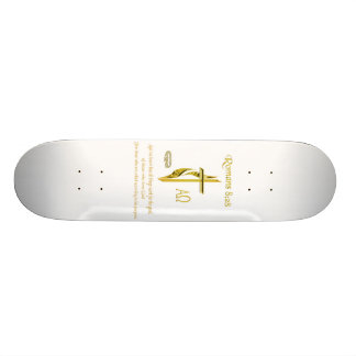 Romans 8:28 Christian merchandise Skateboard Deck