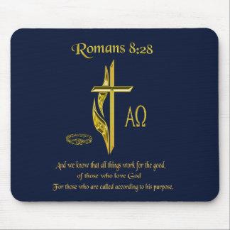 Romans 8:28 Christian Mousepad