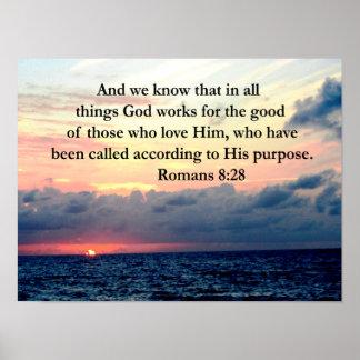 ROMANS 8:28 FAITH POSTER