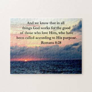 ROMANS 8:28 FAITH JIGSAW PUZZLES