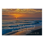 Romans 8:28 God fors for the good Poster
