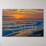 Romans 8:28 God fors for the good Print
