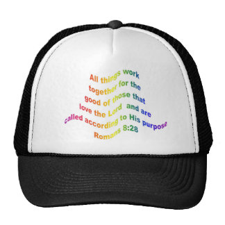 Romans 8 28 mesh hats