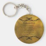 Romans 8:28 key chain