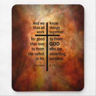Romans 8:28 mousepad