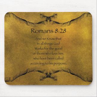 Romans 8:28 mouse pad