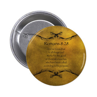 Romans 8:28 pinback button