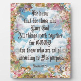 Romans 8:28 plaque