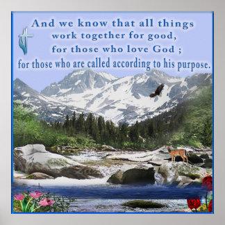 Romans 8:28 poster
