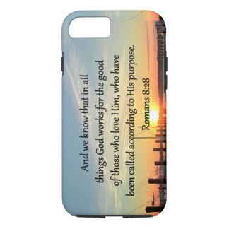 ROMANS 8:28 SUNSET PHOTO DESIGN iPhone 7 CASE
