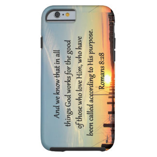 ROMANS 8:28 SUNSET PHOTO DESIGN TOUGH iPhone 6 CASE