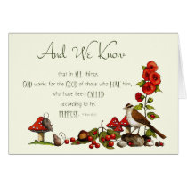 Romans 8:28: Thinking of You: Nature, Bird, Mice Card