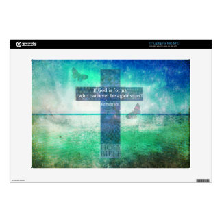 "Romans 8:31 Inspirational Bible Verse Decals For 15"" Laptops"
