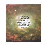 Romans 8:31 memo note pad