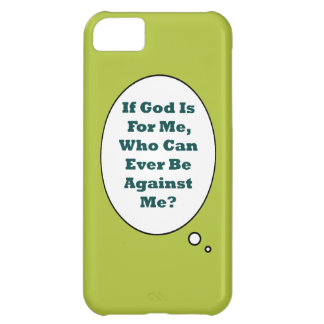 Romans 8:31 On Acid Green Background. Motivational iPhone 5C Covers