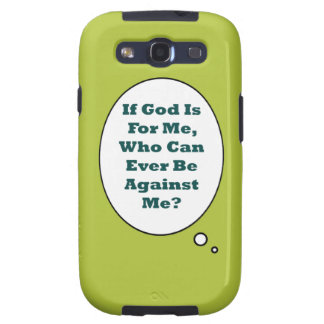Romans 8:31 On Acid Green Background. Motivational Galaxy SIII Cases